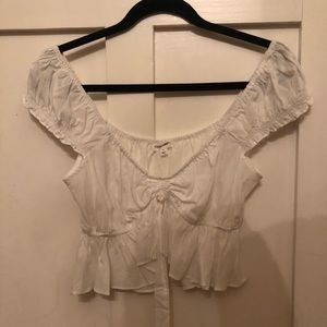 Brand new white off the shoulder top